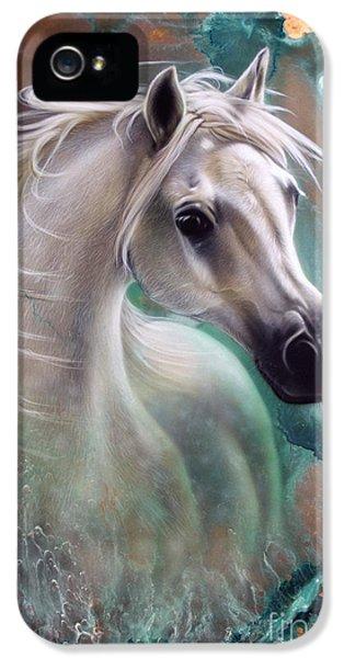 Copper iPhone 5 Cases - Copper Grace - Horse iPhone 5 Case by Sandi Baker