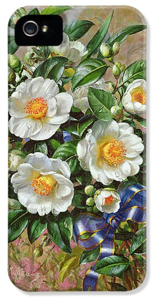Bouquet iPhone 5 Cases - Coronation Camelia From The Golden Jubilee Series, 2002oil On Canvas iPhone 5 Case by Albert Williams