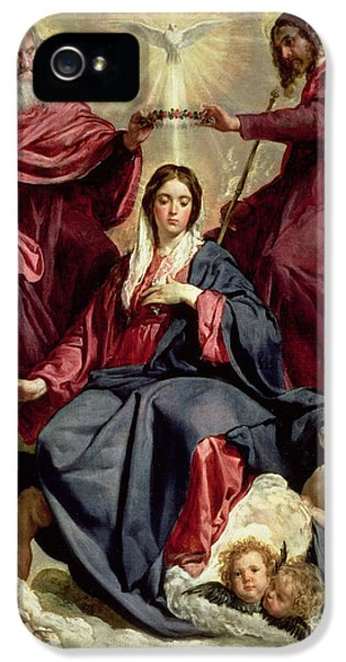 Holy Spirit iPhone 5 Cases - Coronation of the Virgin iPhone 5 Case by Diego Velazquez