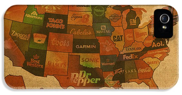 States iPhone 5 Cases - Corporate America Map iPhone 5 Case by Design Turnpike