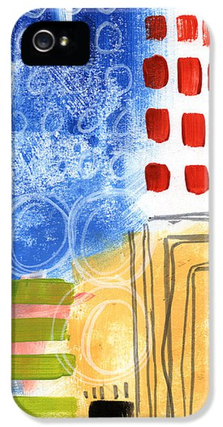 House Art iPhone 5 Cases - Corridor- Colorful Contemporary Abstract Painting iPhone 5 Case by Linda Woods