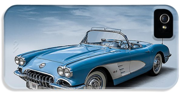Roadsters iPhone 5 Cases - Corvette Blues iPhone 5 Case by Douglas Pittman