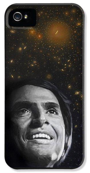 Science Print iPhone 5 Cases - Cosmos- Carl Sagan iPhone 5 Case by Simon Kregar