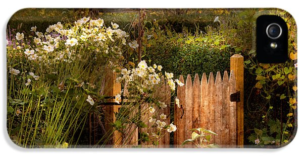 Gate iPhone 5 Cases - Country - Country autumn garden  iPhone 5 Case by Mike Savad