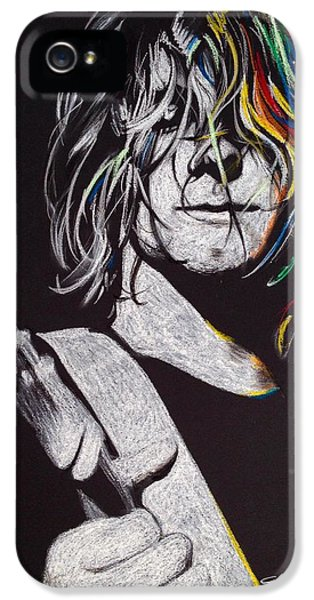 Kurt Cobain iPhone 5 Cases - cover the Hair in Your Eyes iPhone 5 Case by Christian Chapman Art