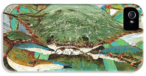 Blue Crab iPhone 5 Cases - CrabNBowl iPhone 5 Case by Keith Wilkie