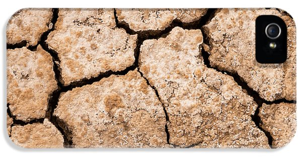 Loam iPhone 5 Cases - Cracked dry mud drought concept nature background iPhone 5 Case by Stephan Pietzko