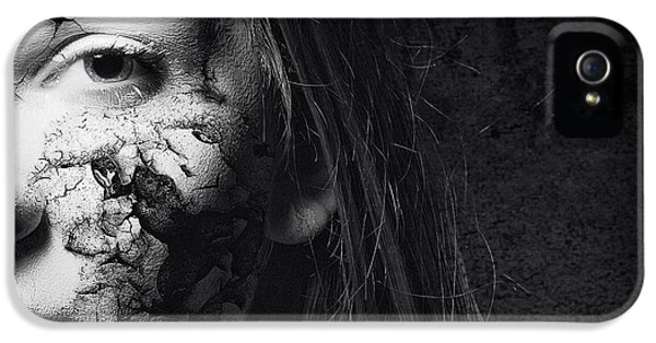 Attractive iPhone 5 Cases - Cracked Face iPhone 5 Case by Erik Brede
