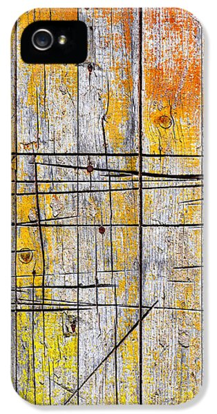 Cracked Wood Background IPhone 5 / 5s Case by Carlos Caetano
