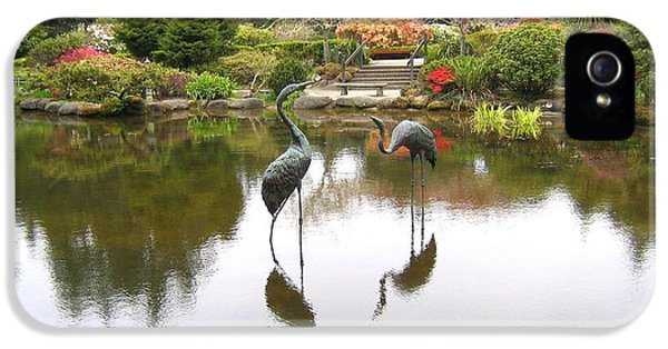 Shore Acres iPhone 5 Cases - Crane Sculptures iPhone 5 Case by Will Borden