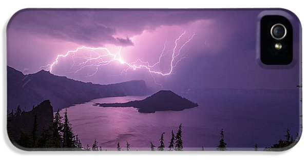 Power iPhone 5 Cases - Crater Storm iPhone 5 Case by Chad Dutson