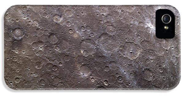 Gil iPhone 5 Cases - Craters On Mercury, Messenger Image iPhone 5 Case by Nasa
