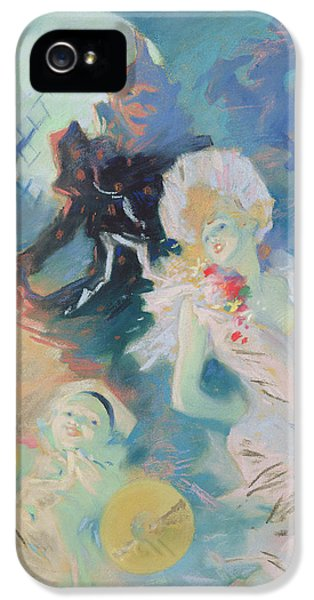 Exuberance iPhone 5 Cases - Crazy Happiness Pastel On Paper iPhone 5 Case by Jules Cheret
