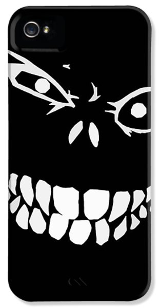 Creepy iPhone 5 Cases - Crazy Monster Grin iPhone 5 Case by Nicklas Gustafsson