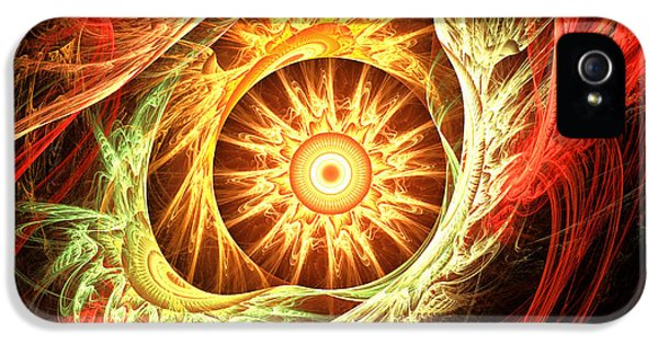 Burnt Umber iPhone 5 Cases - Creation of Sun iPhone 5 Case by Lourry Legarde