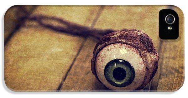 Eyeball iPhone 5 Cases - Creepy Eyeball iPhone 5 Case by Edward Fielding