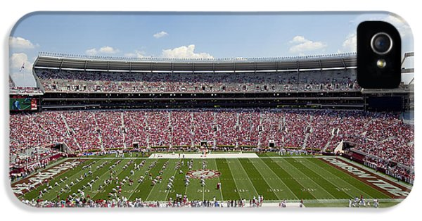 Crimson Tide iPhone 5 Cases - Crimson Tide A-Day Football Game at University of Alabama  iPhone 5 Case by Carol M Highsmith