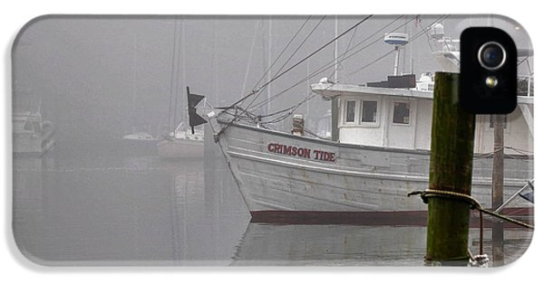 Micdesigns iPhone 5 Cases - Crimson Tide in the Mist iPhone 5 Case by Michael Thomas
