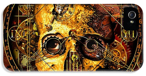 Steampunk iPhone 5 Cases - Cryptic Time Course  iPhone 5 Case by Franziskus Pfleghart