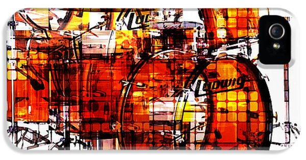 Kits iPhone 5 Cases - Cubist Drums iPhone 5 Case by Russell Pierce
