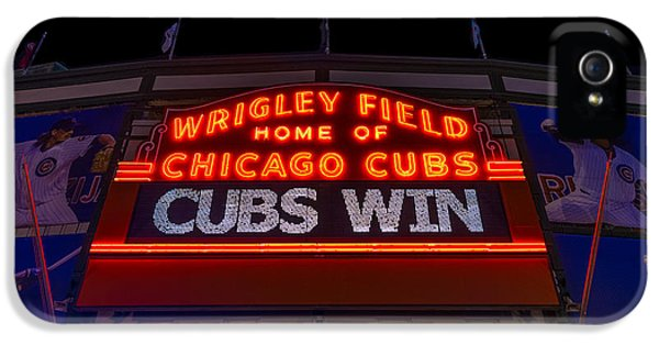 Wrigley iPhone 5 Cases - Cubs Win iPhone 5 Case by Steve Gadomski