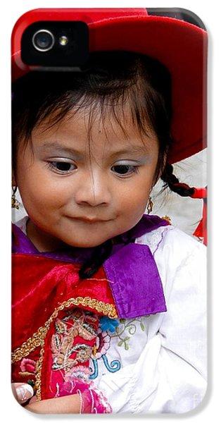 Smiling Jesus iPhone 5 Cases - Cuenca Kids 403 iPhone 5 Case by Al Bourassa