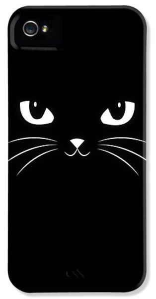 Cute Black Cat IPhone 5 / 5s Case by Philipp Rietz