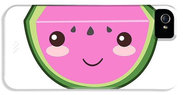 Cute Watermelon Illustration IPhone 5 / 5s Case by Pati Photography