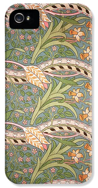 Arts And Crafts Movement iPhone 5 Cases - Daffodil Chintz iPhone 5 Case by John Henry Dearle