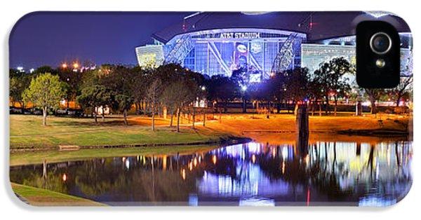 Dallas Cowboys Stadium At Night Att Arlington Texas Panoramic Photo IPhone 5 / 5s Case by Jon Holiday