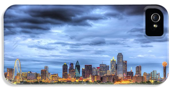 Texas iPhone 5 Cases - Dallas Skyline iPhone 5 Case by Shawn Everhart