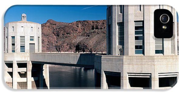 Fuel And Power Generation iPhone 5 Cases - Dam On A River, Hoover Dam, Colorado iPhone 5 Case by Panoramic Images