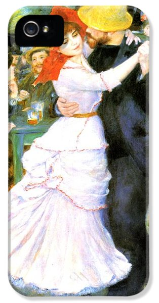 Hat iPhone 5 Cases - Dance At Bougival iPhone 5 Case by Pierre Auguste Renoir