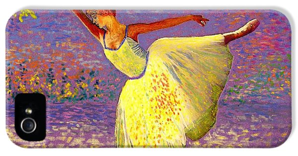 Colourful iPhone 5 Cases - Dancing for Joy iPhone 5 Case by Jane Small