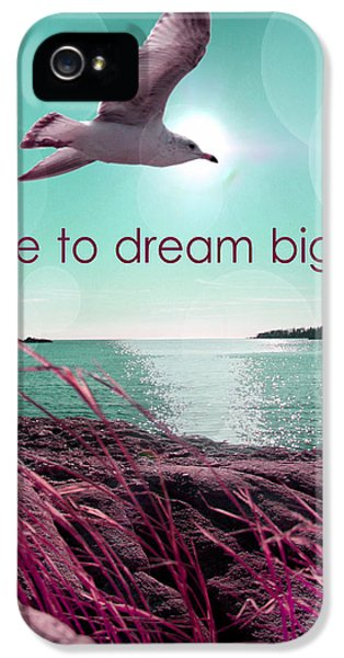 Orsillo iPhone 5 Cases - Dara To Dream Big  iPhone 5 Case by Mark Ashkenazi