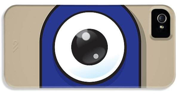 Eyeball iPhone 5 Cases - Dark Blue iPhone 5 Case by Samuel Whitton