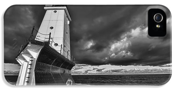 Storm iPhone 5 Cases - Dark Clouds Black and White iPhone 5 Case by Sebastian Musial