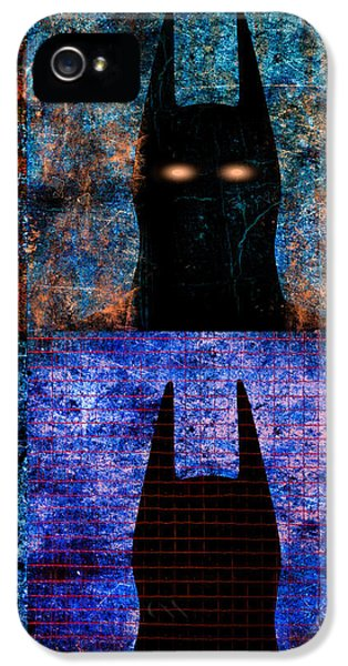 Industrial iPhone 5 Cases - Dark Knight Number 5 iPhone 5 Case by Bob Orsillo