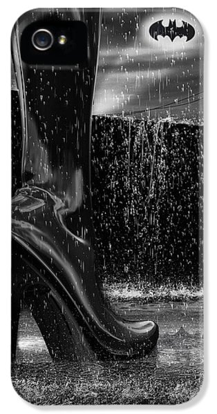 Industrial iPhone 5 Cases - Dark Knight Shinny Boots Of  Leather iPhone 5 Case by Bob Orsillo