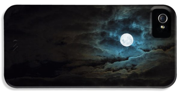 Moon iPhone 5 Cases - Dark Rising iPhone 5 Case by Andrew Paranavitana
