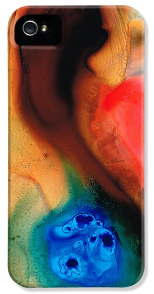 Dark Swan - Abstract Art By Sharon Cummings IPhone 5 / 5s Case by Sharon Cummings