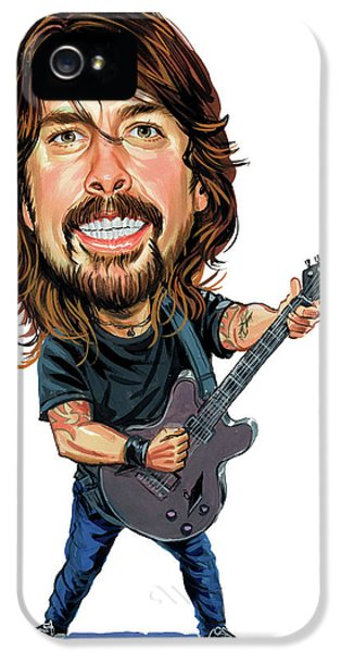 Smiling iPhone 5 Cases - Dave Grohl iPhone 5 Case by Art