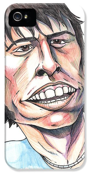 Dave Grohl iPhone 5 Cases - Dave Grohl Caricature iPhone 5 Case by John Ashton Golden
