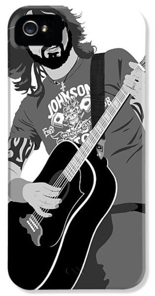 Dave Grohl iPhone 5 Cases - Dave Grohl iPhone 5 Case by Paul Dunkel