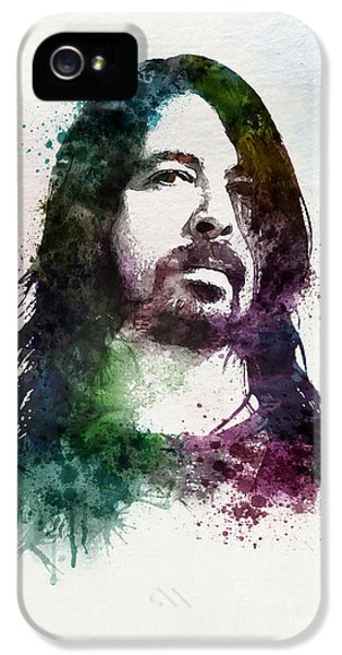 Dave Grohl iPhone 5 Cases - Dave Grohl watercolor iPhone 5 Case by Marian Voicu