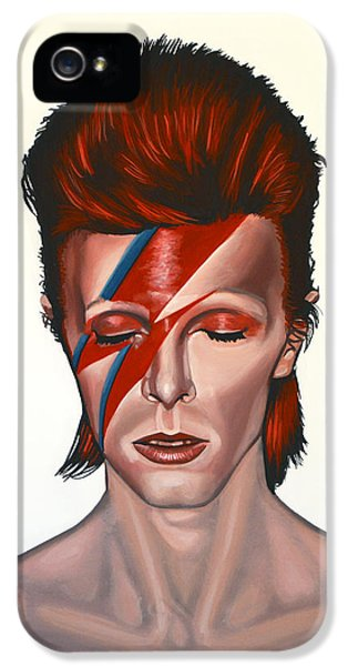 Oddities iPhone 5 Cases - David Bowie Aladdin Sane iPhone 5 Case by Paul  Meijering