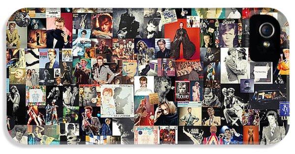 David Bowie Collage IPhone 5 / 5s Case by Taylan Apukovska