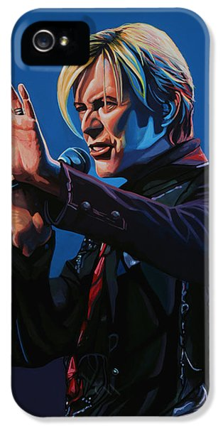 Rock Art iPhone 5 Cases - David Bowie iPhone 5 Case by Paul  Meijering