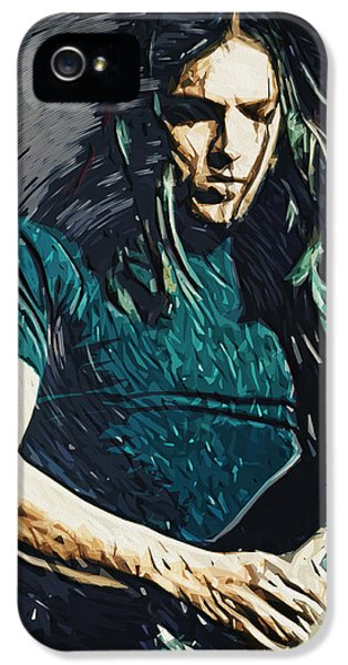 Paul Mccartney iPhone 5 Cases - David Gilmour iPhone 5 Case by Taylan Soyturk