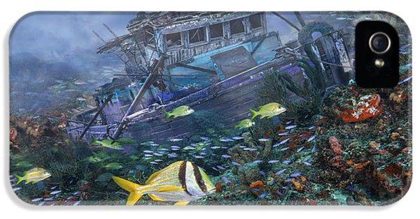 Tubular iPhone 5 Cases - Davy Jones Locker iPhone 5 Case by Debra and Dave Vanderlaan